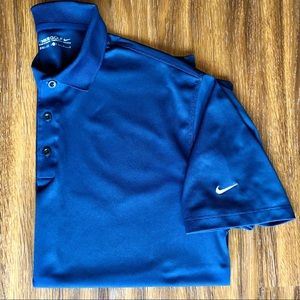 Nike Golf Men's Dri-Fit Polo Navy Blue Size Large